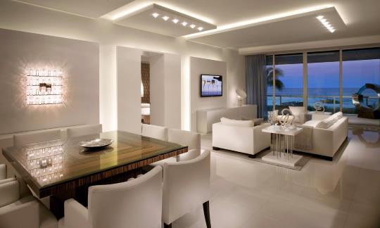 Светодиоды в гостинной комнате и их расоложение